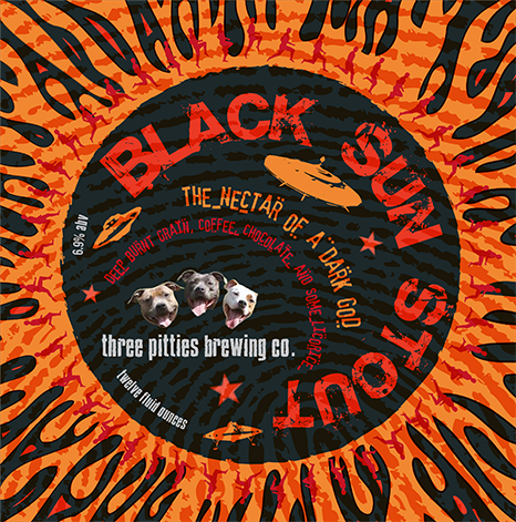 Black Sun Stout Label