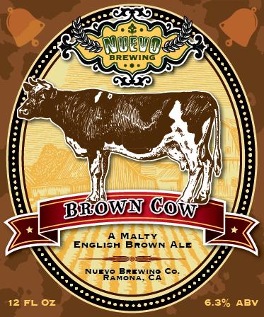 Nuevo Brown Cow label